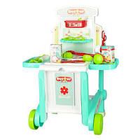 Детский набор Доктор с тележкой чемоданом и медицинскими инструментами 008-929