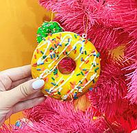 Набор из 6 подвесок на елку Пончики 801-099. Новогодний декор