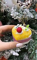 Набор из 6 подвесок на елку Десерт 801-101. Новогодний декор