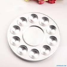Круглая алюминиевая палитра с 10 канавками для красок