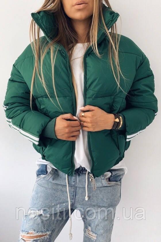 Очень теплая женская куртка на синтепоне
