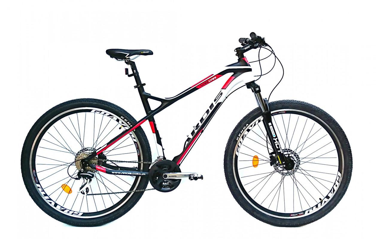 """Горный велосипед Ardis Varvar R29"""" 19"""" алюминиевый на дисковыми гидравлическими тормозами (Черно-красный)"""