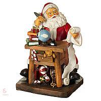 Статуэтка Санта пишет письмо 002UW. Новогодний декор