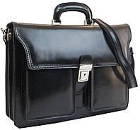 Вместительный мужской портфель из натуральной кожи TOMSKOR 81561 черный, фото 1