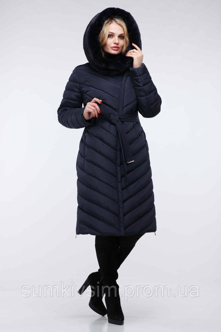 Пальто Фелиция 2 - Т.синий №91