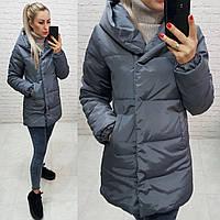 Куртка женская, арт. 1005, цвет - серый / графит