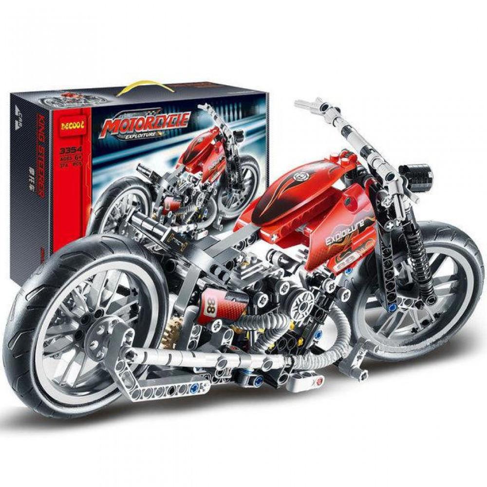 Конструктор Decool Мотоцикл 378 деталей в коробке