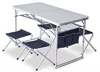 PINGUIN - Table Set + 4 Stools (PNG 621006) - набор кемпинговой мебели