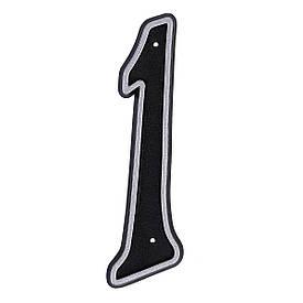 Номер пластиковый на дверь Larvij цифра 1 матовое серебро (LNP15 MS#1)