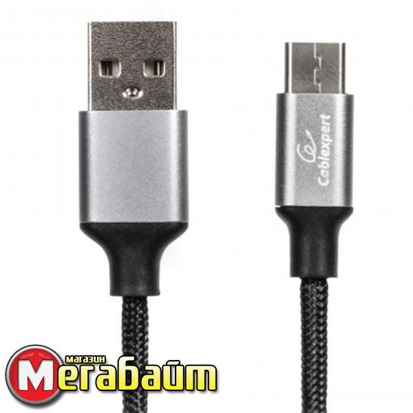Кабель Cablexpert (CCPB-C-USB-09BK) USB 2.0 A - USB Type-C, премиум, 1м, черный
