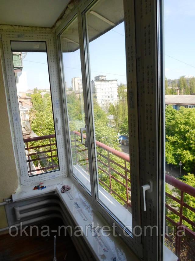 Остекление балкона Чешка, окнами Rehau