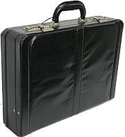 Мужской кейс-дипломат из эко кожи 4U Cavaldi A020425 чёрный, фото 1