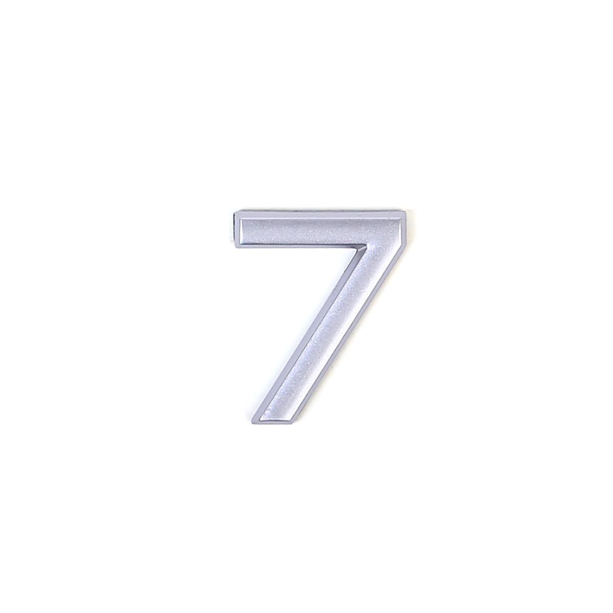 Номер пластиковый на дверь Larvij цифра 7 матовое серебро (LNP4MS#7)