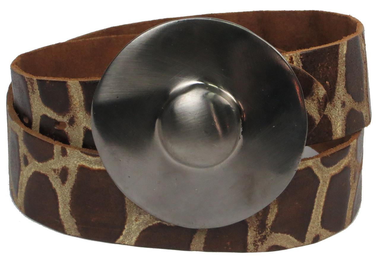 Женский ремень с закрытой пряжкой, Vanzetti, Германия, 100017 коричневый, 4х106 см, фото 1