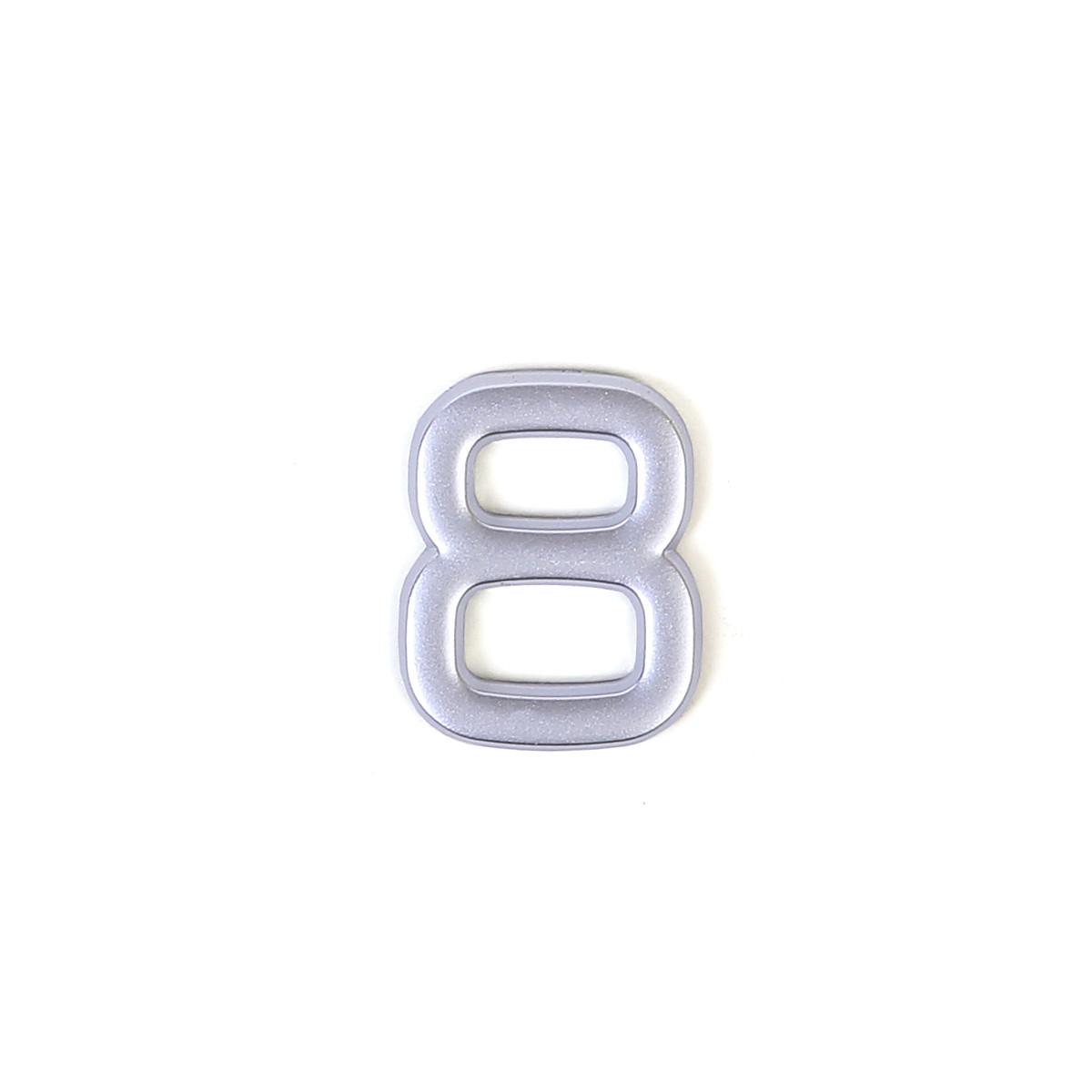 Номер на дверь Larvij цифра 8 матовое серебро. Номер из пластика (LNP4MS#8)