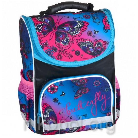 """Рюкзак школьный """"SMILE - Бабочки и цветы"""", ортопедический, коробка 34,5х25,5х13см."""