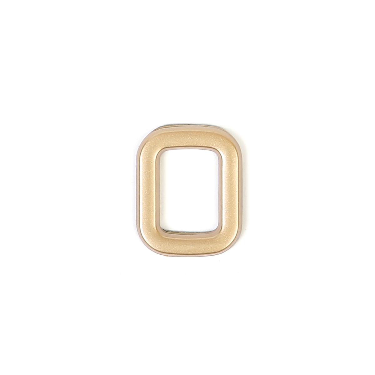 Номер пластиковый на дверь Larvij цифра 0 матовое золото (LNP4MG#0)