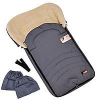 Конверт-чехол  на овчине в коляску или на санки 95*45см MAXI For Kids