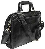 Мужская кожаная сумка-портфель Always Wild CP 151-46655 черная, фото 1