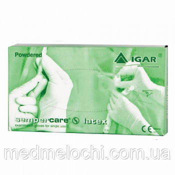 Рукавички латексні пудровані р-р L IGAR