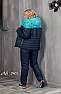 Женский зимний теплый спортивный костюм на синтепоне мята розовый 48 50 52 54, фото 5