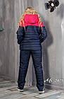 Женский зимний теплый спортивный костюм на синтепоне мята розовый 48 50 52 54, фото 3