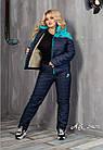 Женский зимний теплый спортивный костюм на синтепоне мята розовый 48 50 52 54, фото 6