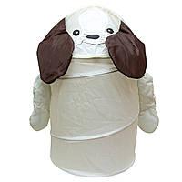 Корзина для игрушек - Собачка, 46*75 см, белый, полиэстер (T0339A)