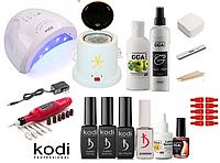 Стартовый набор Kodi Professional для покрытия гель-лаком + Лампа SunOne 48 W