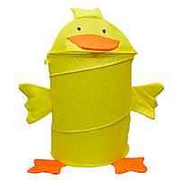 Корзина для игрушек - Утенок, 46*75 см, желтый, полиэстер (T0339F)