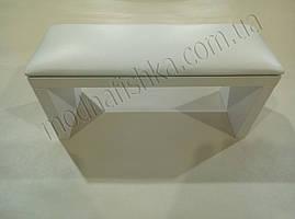 Маникюрная подставка для рук (Подлокотник) белого цвета на белых ножках