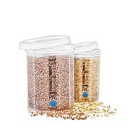 Емкость (контейнер) пищевой для сыпучих продуктов (круп) с резьбой набор 2шт. Stenson (NP-85б)