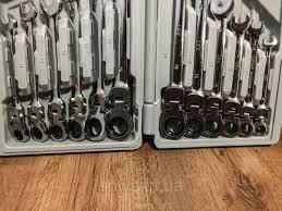 Ключі рожково-накидні з тріскачкою на кардане LEX 1578 (12шт)