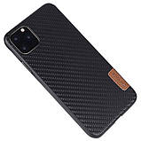 "Карбоновая накладка G-Case Dark series для Apple iPhone 11 Pro (5.8""), фото 2"
