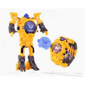 Детская игрушка Robot Watch часы робот трансформер 2 в 1 Yellow, фото 2