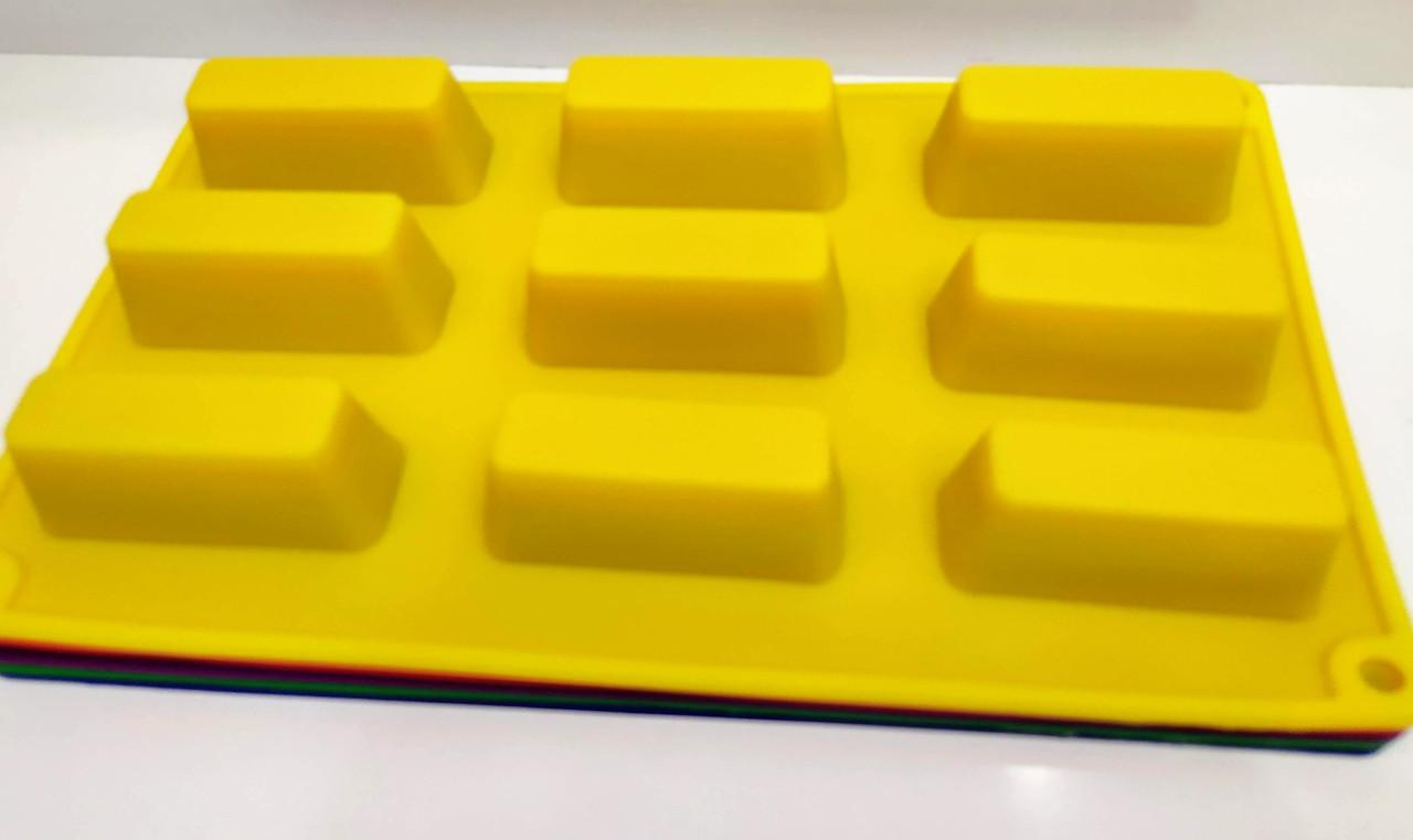 Форма для евродесертов и глазированных сырков Прямоугольник 9 шт