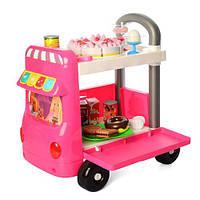 Детский магазин на колесах W034-W084 прилавок-тележка игрушечная