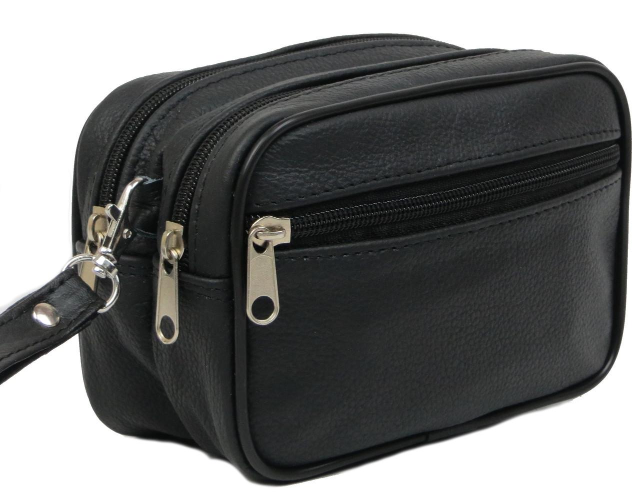 Кожаная сумка-барсетка на ремень Pawelek ss-18 11-160, фото 1