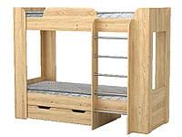 Ліжко Твікс-2 дуб сонома (2пач.) ТМКОМПАНІТ