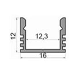 Алюмінієвий профіль для світлодіодних стрічок ЛП12 led 11861