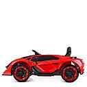 Дитячий електромобіль M 4115 EBLR-4, Lamborghini Aventador, EVA гума, шкіряне сидіння, синій, фото 5
