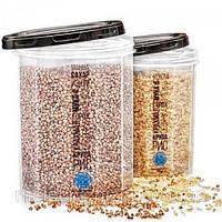 Емкость (контейнер) пищевой для сыпучих продуктов (круп) с резьбой набор 2шт. Stenson (NP-85ч)