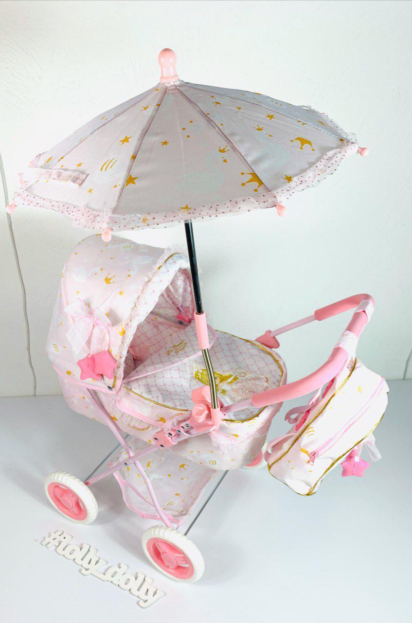 Коляска для куклы с зонтиком и рюкзаком Мария DeCuevas 85028