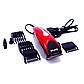Профессиональная машинка - триммер для стрижки волос Gemei GM-1025 4 в 1 красная, фото 3