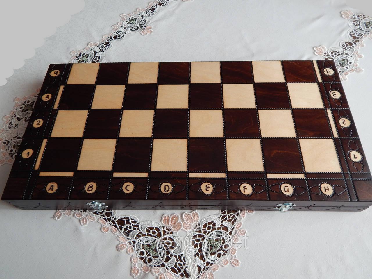 Деревянные шахматы ручная работа 54*54см