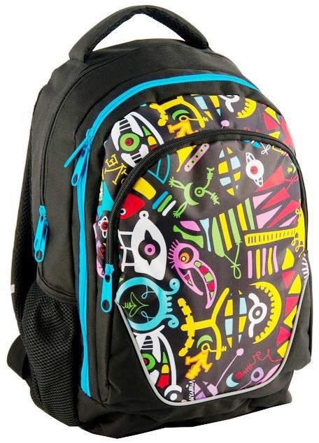 Молодежный рюкзак с абстракцией PASO 21L BDD-367 черный, фото 1