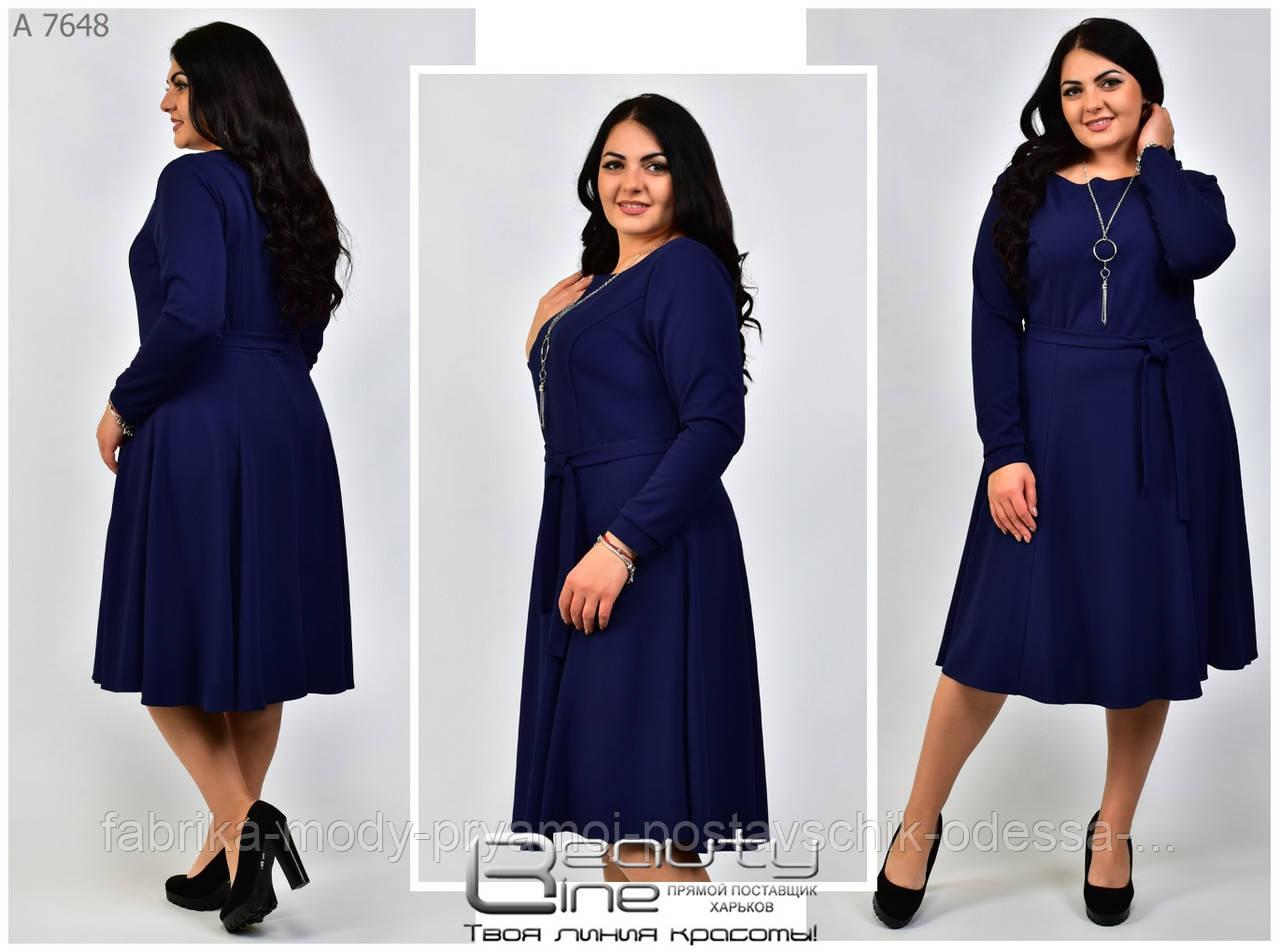 Женское платье Линия 54-62 размер №7648
