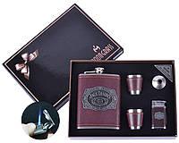 Подарочный набор JACK DANIELS (Фляга,Рюмки,Зажигалка,Лейка )