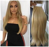 Волосы трессы на заколках набор из 7 прядей длина 50см №27/613 светло-пшеничный блонд