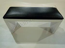Маникюрная подставка для рук (Подлокотник) черного цвета на белых ножках